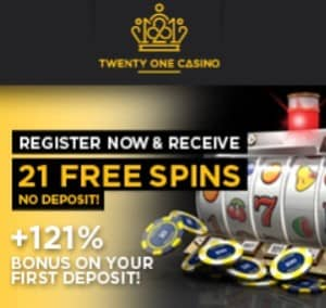 Twenty One Casino free spins