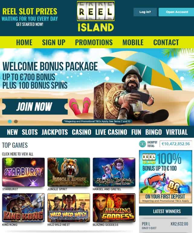 Reel Island Casino - online & mobile - review: