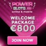 Power Slots Casino £800 free spins bonus on sign-up