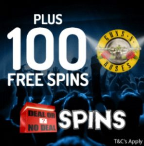 Deal Or No Deal Spins Casino £100 bonus and 100 free spins