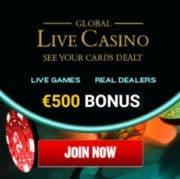 Global Live Casino free bonus