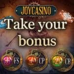 Joy Casino 200 free spins and 425% up to €2000 welcome bonus