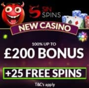 Sin Spins Casino free spins