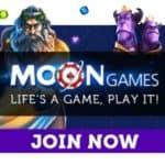 Moon Games Casino £10 gratis and 200% up to £1500 free bonus