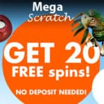 MegaScratch Casino – 20 free spins NDB and €410 welcome bonus