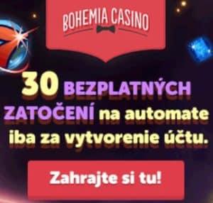 Bohemia Casino - 30 free spins no deposit bonus - Czech Rep & Slovakia