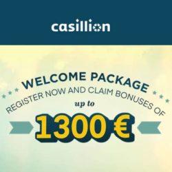 Casillion Casino €1300 Welcome Bonus and Extra Free Spins
