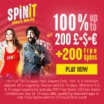 SPINIT – 200 free spins and $€£ 1000 free bonus – Play it & Win it!