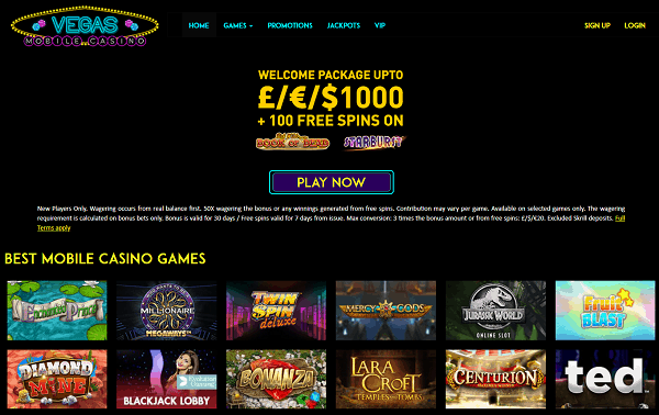 Get 100 free spins now!