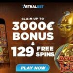 Is AstralBet Casino legit? Get $/€3000 bonus and 129 free spins!