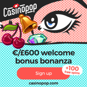 CasinoPop | 450% up to €600 bonus + 100 free spins | review
