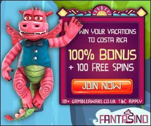 Fantasino Casino €700 gratis bonus and 100 free spins on 1st deposit