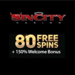 Sincity Casino 80 free spins and €£$ 800 free welcome bonus