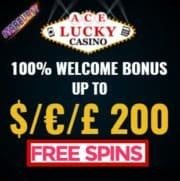 Ace Lucky Casino free spins banner