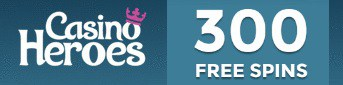 Casino Heroes 300 gratis spins and 100% up to €100 bonus