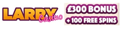 Larry Casino 100 free spins and 100% up to €300 exclusive welcome bonus