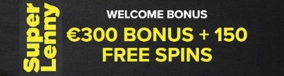 Super Lenny Casino €300 welcome bonus and 150 free spins