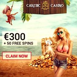 Caribic Casino 125 free spins & €300 free welcome bonus