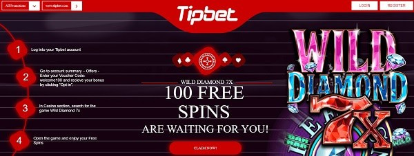 100 free spins on new slot games