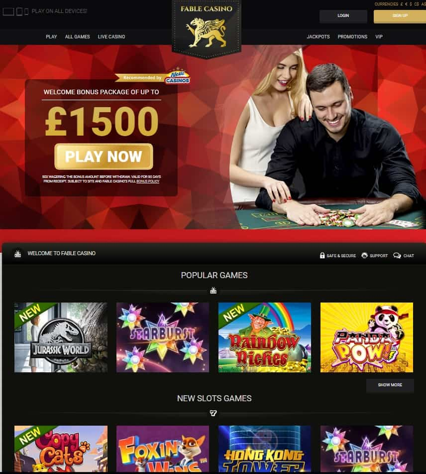 Fable Casino Review