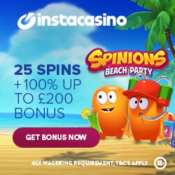 Insta Casino 25 free spins   100% bonus   500 gratis spins