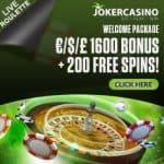 Joker Casino   200 free spins + €1600 welcome bonus   big jackpot wins!