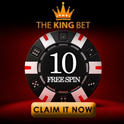 TheKingbet Casino 10 free spins no deposit bonus on registration