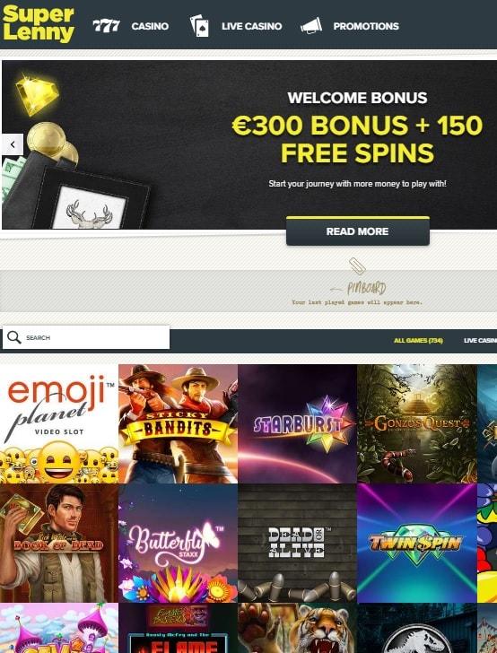 Super Lenny Casino Review