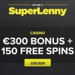 SuperLenny Casino 150 free spins & €300 gratis – no wagering bonus