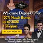 Grand Ivy Casino 100 free spins plus €1500 welcome bonus