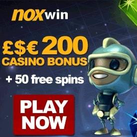 Noxwin Casino 20 sign-up free spins + 100% free bonus + 50 gratis spins