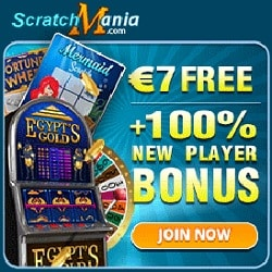 Scratch Mania Casino 7 No Deposit Bonus Or 70 Gratis Spins