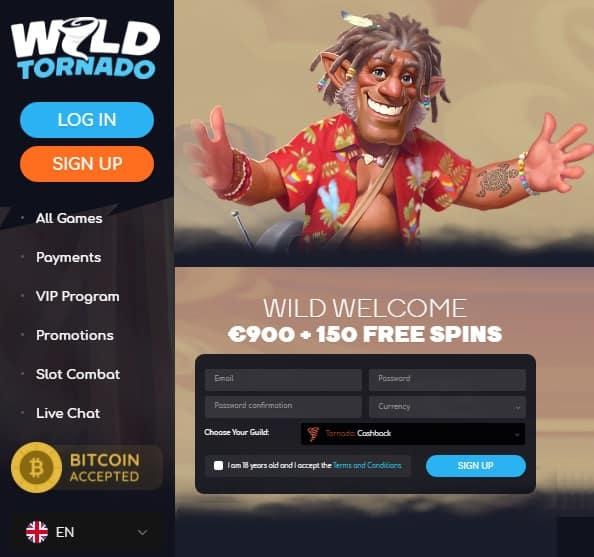 Wild Tornado Casino Review - bitcoin games, free spins, no deposit bonuses, big wins