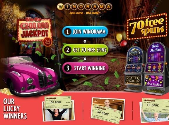 Winorama Casino $7 gratis no deposit bonus