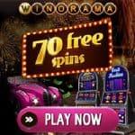 Winorama.com - £/€/$7 gratis bonus or 70 free spins no deposit required
