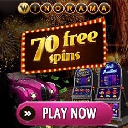 Winorama.com - £/€/$7 gratis bonus or 70 free spins - no deposit required