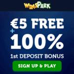 How to get €5 no deposit free spins to Winspark.com Casino?