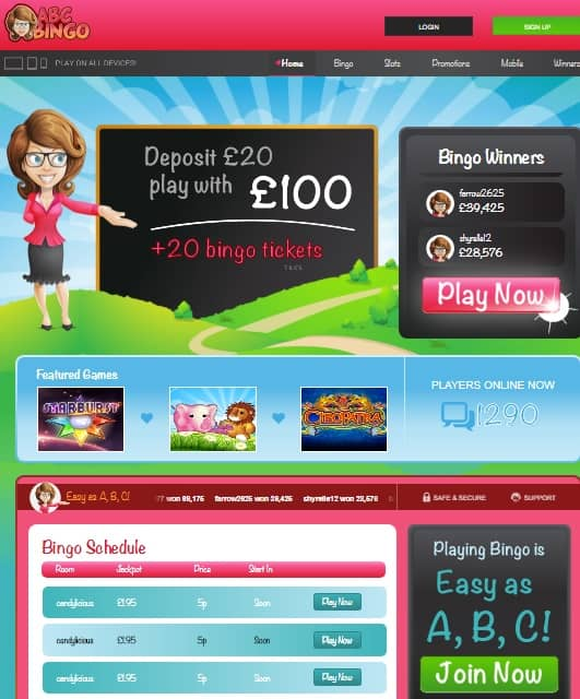 ABCBingo.com free bonus
