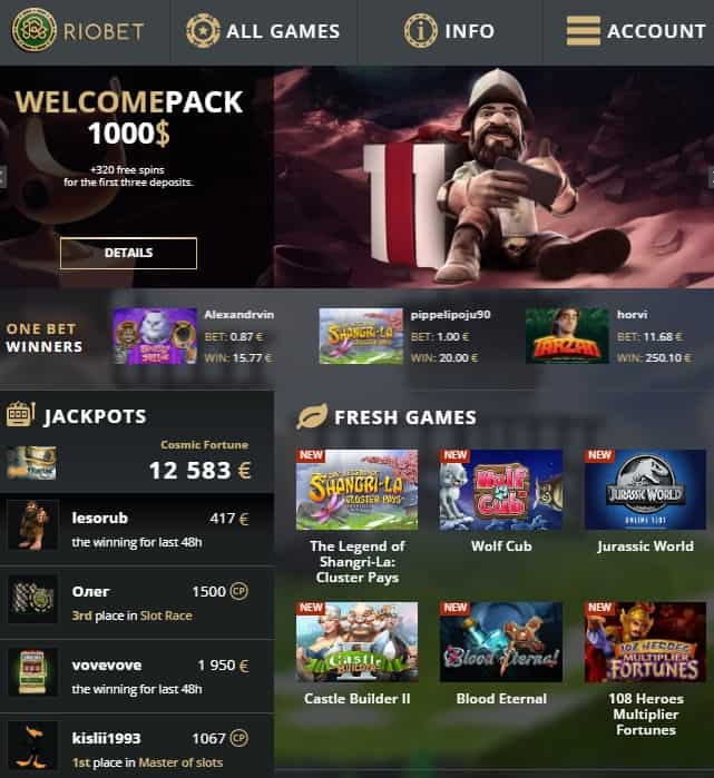 Riobet Casino Review