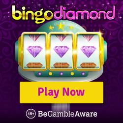 Bingo Diamond™ UK Casino 50 free spins & 300% welcome bonus