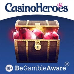 Casino Heroes €5 FREE   400% up to €1300 bonus and 200 free spins