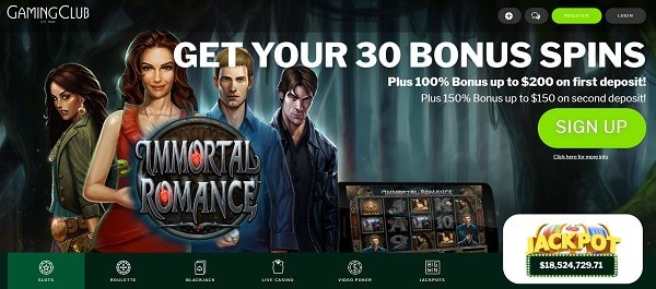 Receive 30 free spins today!