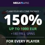 MegaWins Casino (Direx NV / SoftSwiss) €1,000 bonus   180 free spins