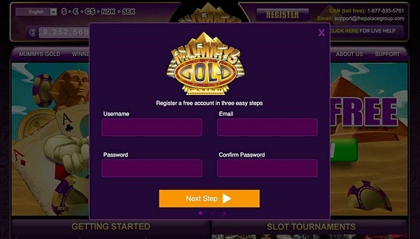 Register your account and play with 500 free spins!