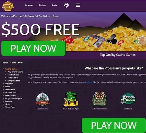 Mummy's Gold Casino Review