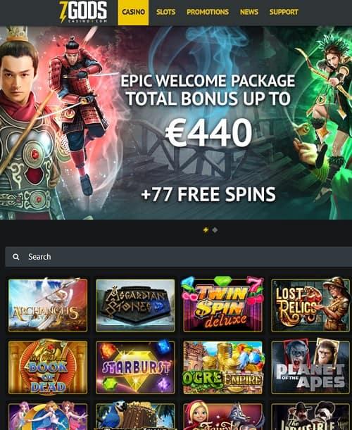 7 Gods Casino gratis spins bonus