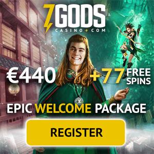 7 Gods Casino: slots, jackpots, live dealer - €440 bonus & 77 free spins
