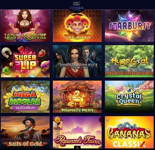 Genesis Casino free spins bonus