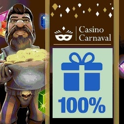 Casino Carnaval $300 gratis bonus and 100 free spins