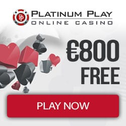 Platinum Play Casino 200% up to €800 free bonus on deposit